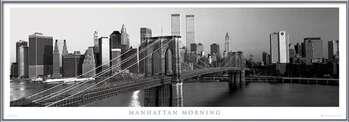Plakat Manhattan - morning b&w