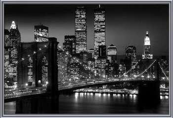 Oprawiony plakat  Manhattan - Night