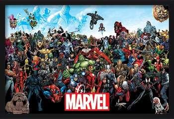 Oprawiony plakat  Marvel - Universe