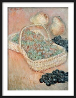 Oprawiony plakat  Claude Monet - The Basket of Grapes, 1884