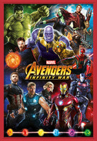 Oprawiony plakat  Avengers: Infinity War – Characters