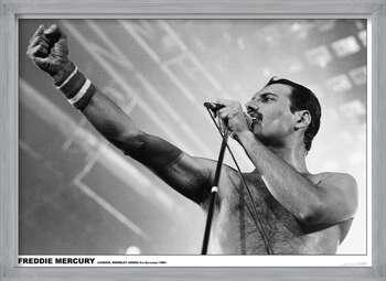 Oprawiony plakat Freddie Mercury - Wembley 1984