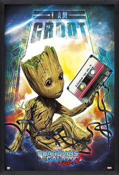 Oprawiony plakat Guardians Of The Galaxy Vol 2 - Groot
