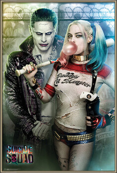 Oprawiony plakat Suicide Squad - Joker and Harley Quinn