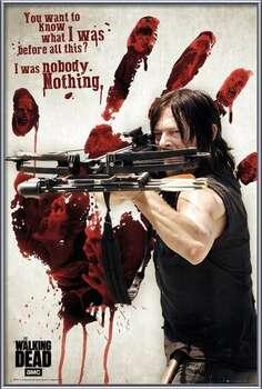 Oprawiony plakat Walking Dead - Bloody Hand Daryl
