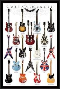 Oprawiony plakat Guitar heaven