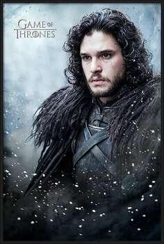 Oprawiony plakat Game of Thrones - Jon Snow