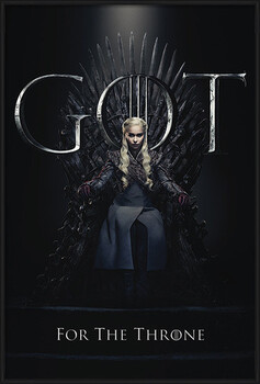 Oprawiony plakat Game Of Thrones - Daenerys For The Throne