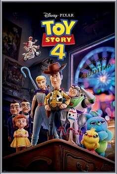 Oprawiony plakat Toy Story 4 - Antique Shop Anarchy