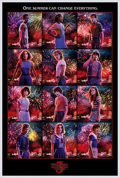 Oprawiony plakat Stranger Things - Character Montage