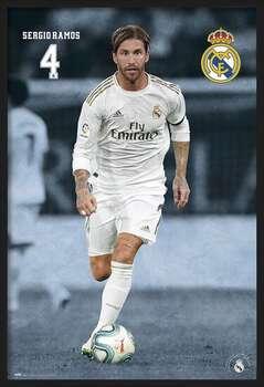 Oprawiony plakat Real Madrid 2019/2020 - Sergio Ramos
