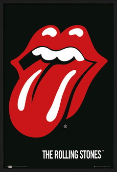 Oprawiony plakat the Rolling Stones - Lips