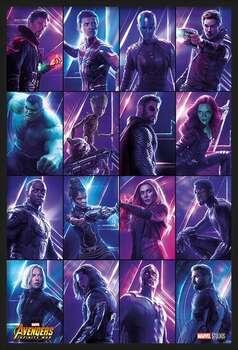 Oprawiony plakat Avengers: Infinity War - Heroes