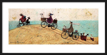 Oprawiony plakat Sam Toft - Electric Bike Ride