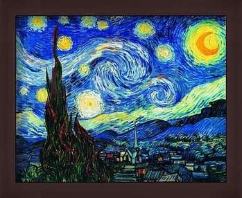 Oprawiony plakat The Starry Night, June 1889