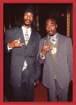 Oprawiony plakat Snoop Dogg & Tupac - Suits