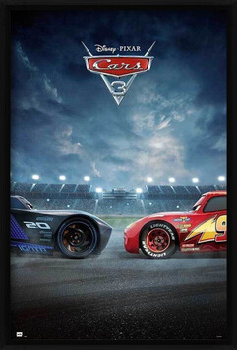 Oprawiony plakat Cars 3 - Duel