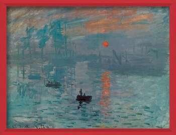 Oprawiony plakat Impression, Sunrise - Impression, soleil levant, 1872