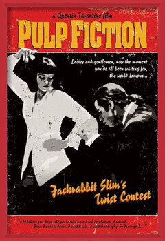Oprawiony plakat Pulp Fiction - Twist Contest