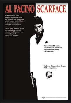Oprawiony plakat Scarface - movie