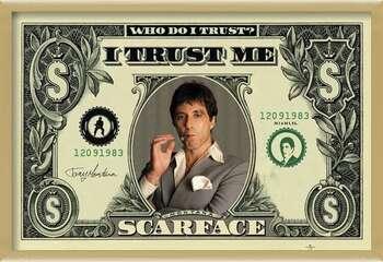 Oprawiony plakat SCARFACE - dollar