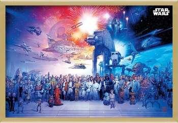 Oprawiony plakat Star Wars - Universe