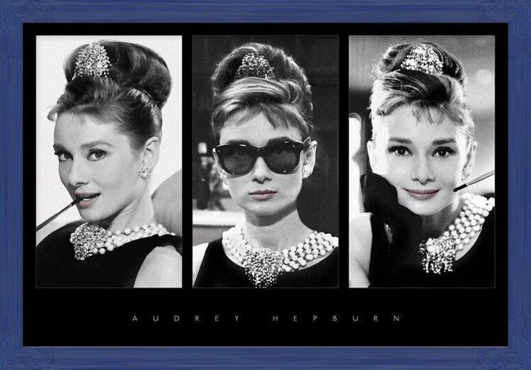 Plakat Audrey Hepburn - triptych