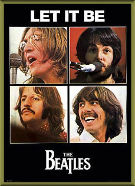 Plakat  Beatles - let it be