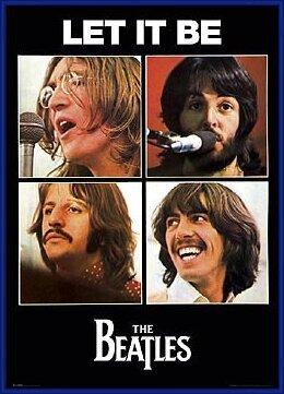 Plakat  Beatles - let it be