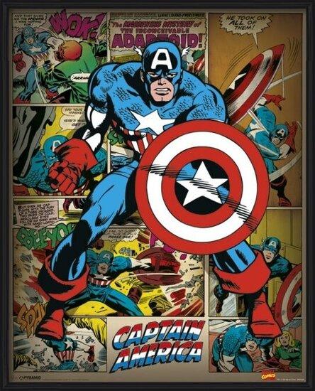 Plakat  MARVEL COMICS – captain america retro