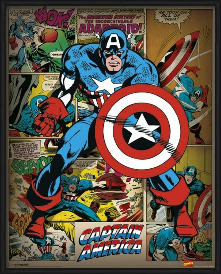 Plakat  MARVEL COMICS – captain america retro