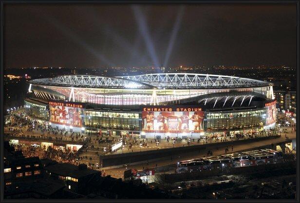 Plakat  Arsenal - emirates stadium night