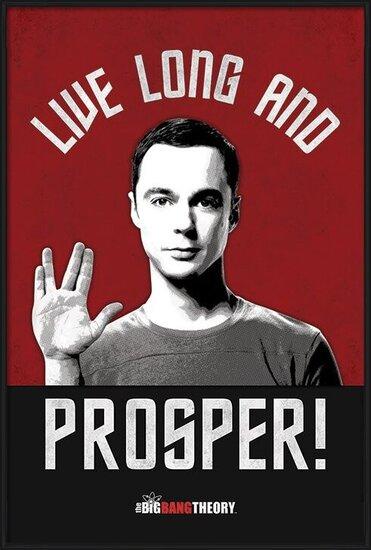 Plakat  THE BIG BANG THEORY - live long and prosper