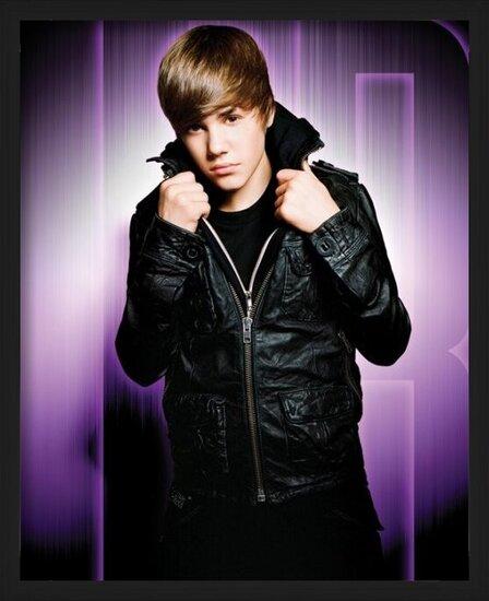 Plakat  Justin Bieber - purple