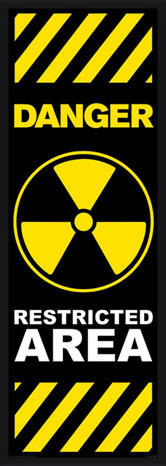Plakat Danger - restricted area