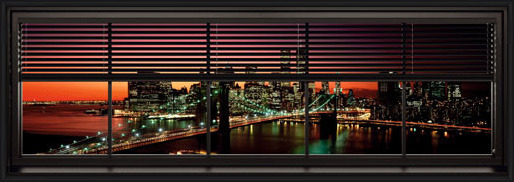 Plakat Nowy Jork - window blinds