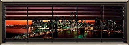 Plakat  Nowy Jork - window blinds