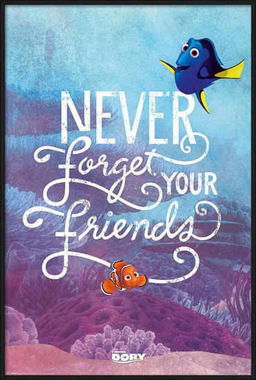 Plakat  Gdzie jest Dory? - Never Forget Your Friends