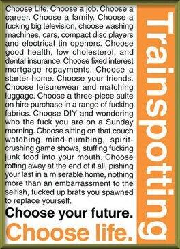 Plakat  TRAINSPOTTING - choose life