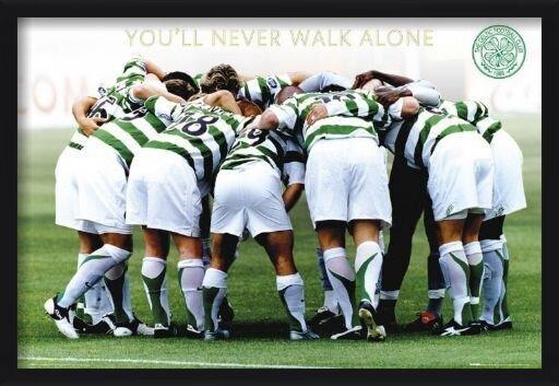 Plakat Celtic - huddle