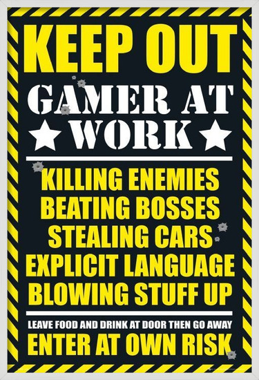 Plakat  Gaming - keep out