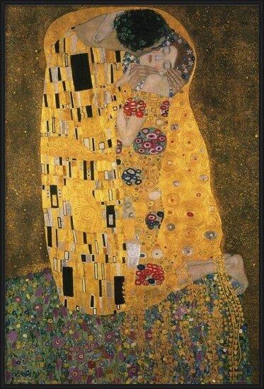 Plakat  Klimt - the kiss