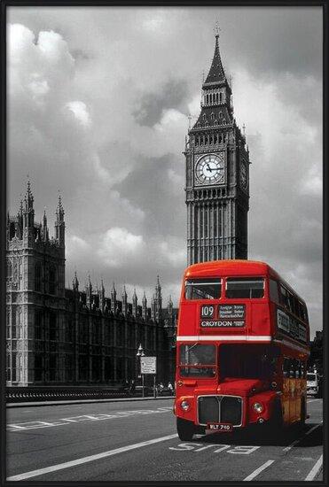 Plakat  Londyn - red bus