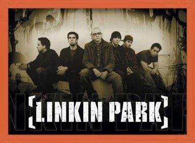Plakat  Linkin Park - sepia